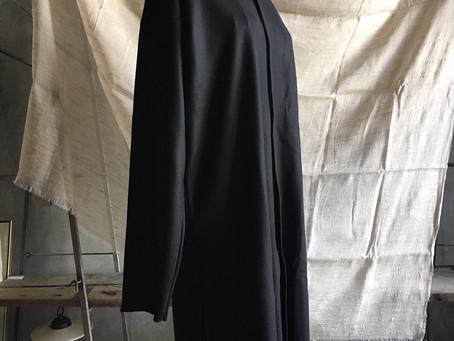MITTAN ウールスムースロングフードジャケット