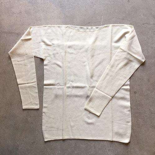 強撚ウールニット長袖 生成 サイズ2