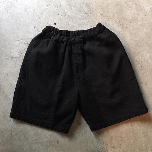 亜麻苧麻ショート 黒 サイズ1