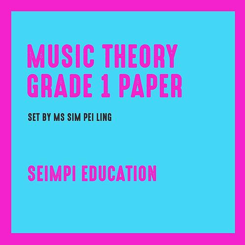 Seimpi Theory Paper Grade 1