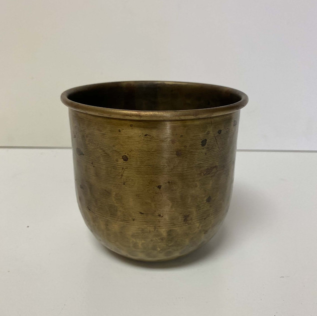Hammered Brass Vase
