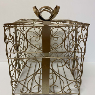 Card Box Gold Cage