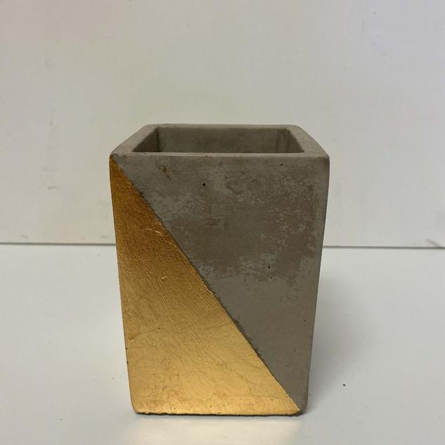 Gold Stone Vase