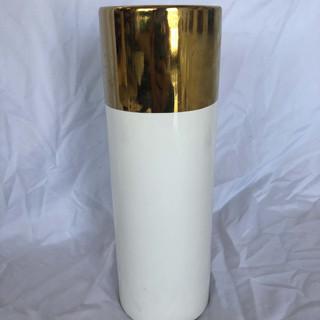 Gold and White Vase