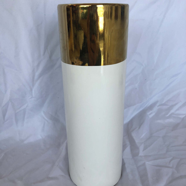 Gold and White Vase