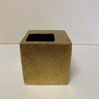 Etched Gold Bud Vase