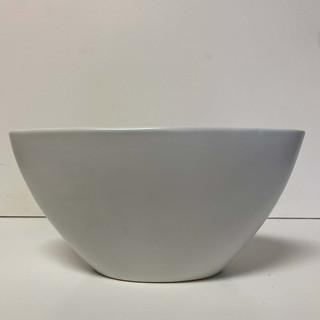 White Ceramic Oval