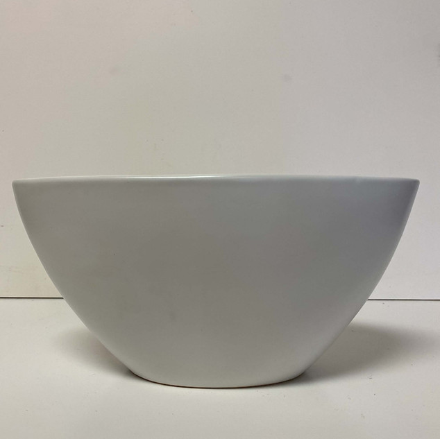 White Ceramic Oval