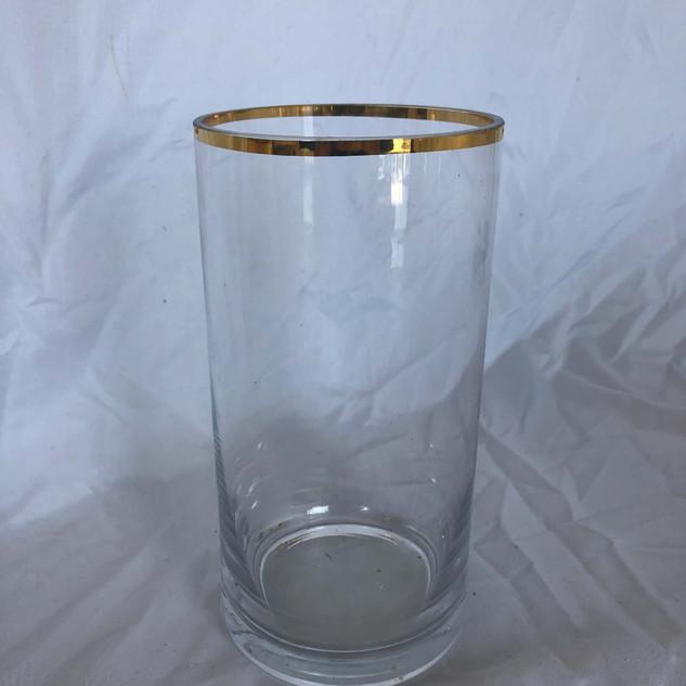Gold Rim Vase