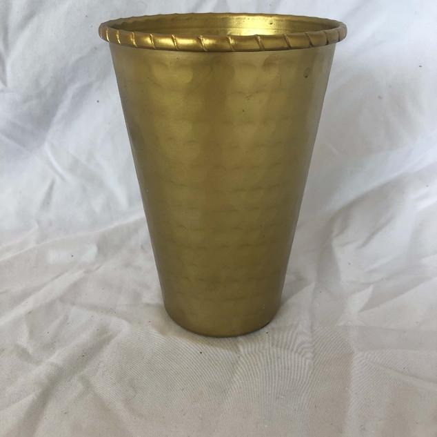 Hammered Gold Vase