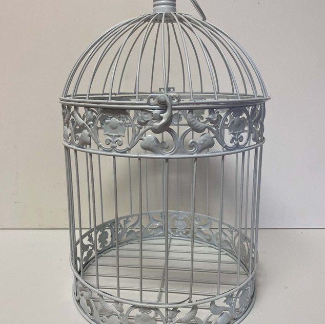 Card Box White Birdcage