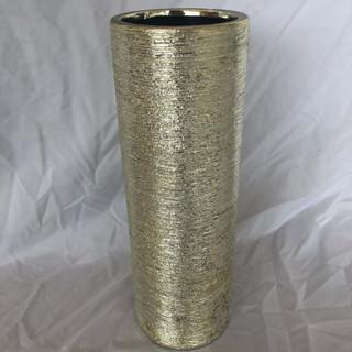 Etched Silver Vase
