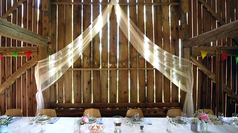 Uppdukat för bröllop