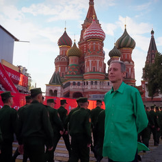 Peter Tatchell protesting in Moscow at the FIFA World Cup in 2018 © WildBear Entertainment  @Netflix @NetflixFilm @Most @TatchellMovie