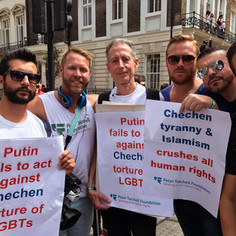 Peter Tatchell and director Christopher Amos at London Pride © Christopher Amos  @Netflix @NetflixFilm @Most @TatchellMovie