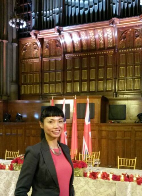 Official interpreter, China-UK State Visit 2015, civic lunch in Manchester, Pres