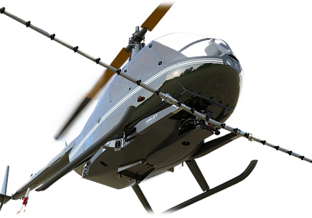 Robinson R44 helicopter with Airlift Technologies designed  R44 carbon composite agricultual spray system