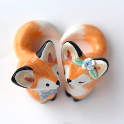 Wedding Foxes Cake Topper