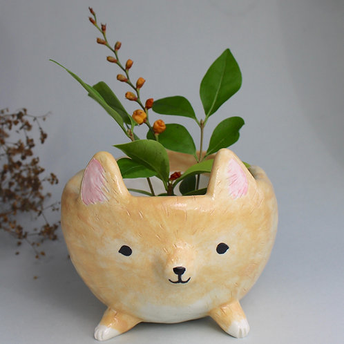 Custom dog planter