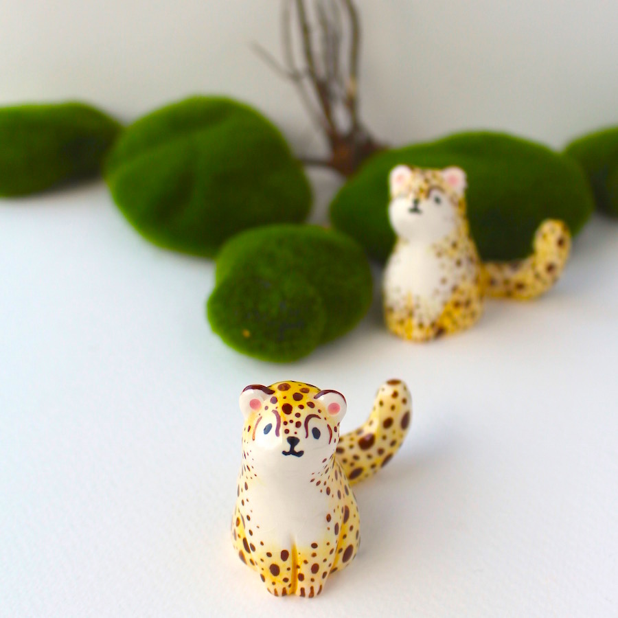 CHEETAH CAKE TOPPER
