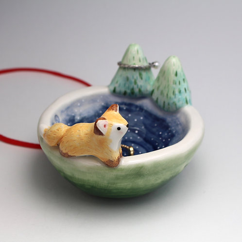 Fox in the Forest jewellery dish.