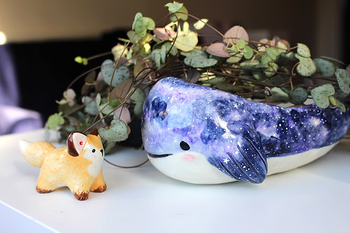 Whale planter and fox custom order