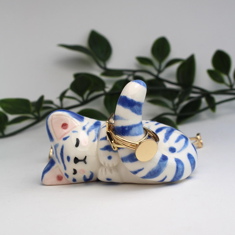 BLUE TIGER RINGHOLDER
