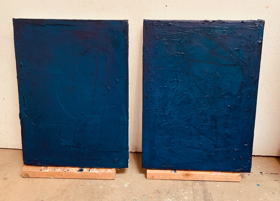 Studio View: Sketches - Oil on Canvas