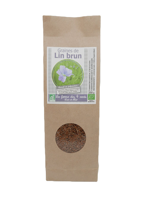 Graines de Lin Brun