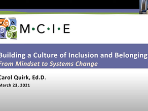 """""""Building a Culture of Inclusion and Belonging"""" Webinar"""