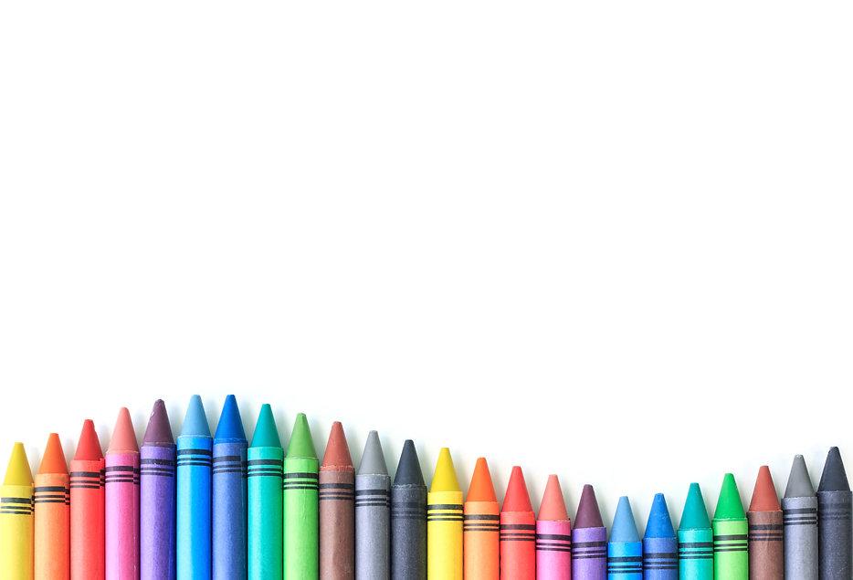 crayon drawing border multicolored backg