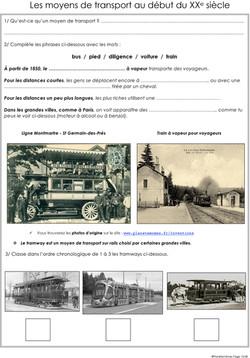 fp 13 les moyens de transport au 20e siecle