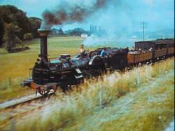 Transport train à vapeur