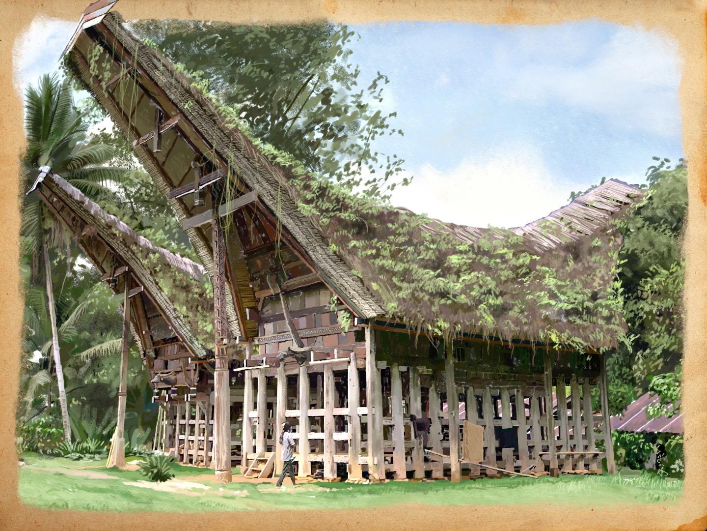Maison Torajas Indonesie