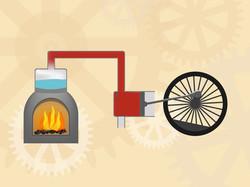 Transport machine  à vapeur