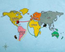 Carte des grands explorateurs