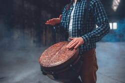 Tambour en bois
