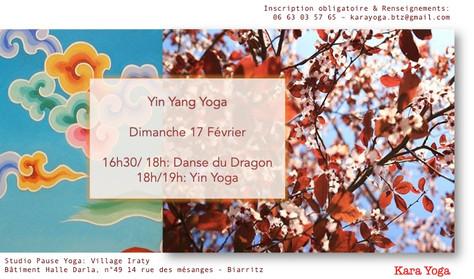 Atelier Yin Yang Yoga - Dimanche 17 février