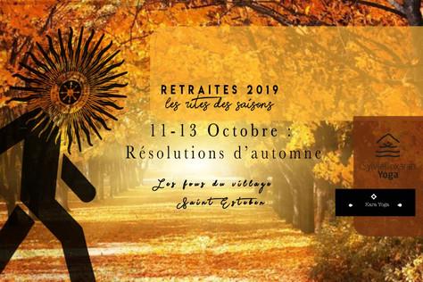 """Retraite de yoga - """"Résolutions d'Automne"""" - du 11 au 13 Octobre"""