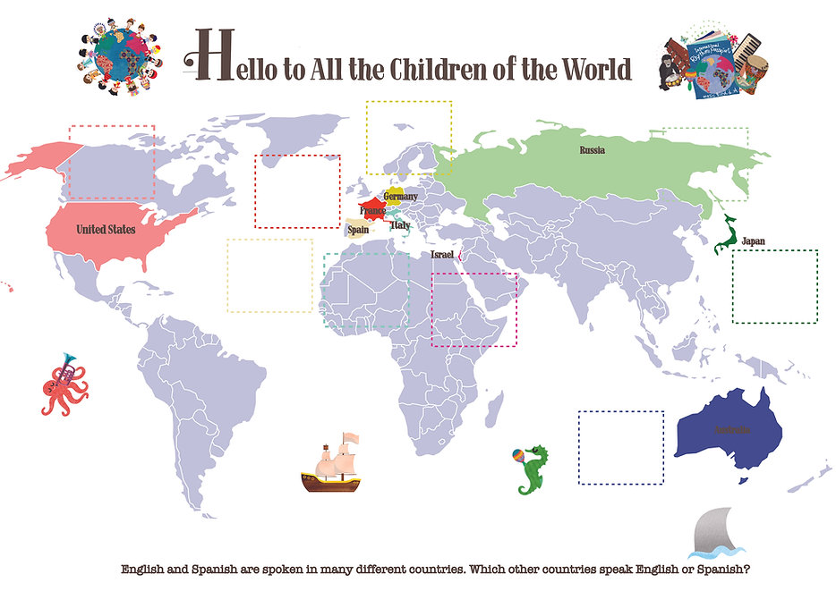 hello from the children of the world map