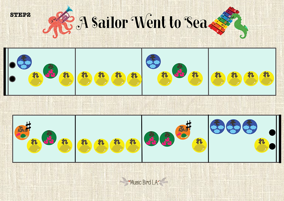 A Sailor went to sea Color Code Step2.pn