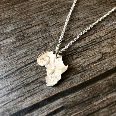 1 Cent South African Coin Necklace - Sterling Silver