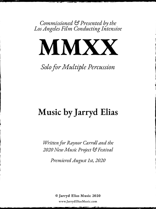 [AVAILABLE AT WWW.LAFCI.ORG] MMXX - Solo for Multi-Percussion