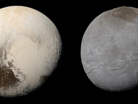 New Horizons: cores reais de Plutão e Caronte