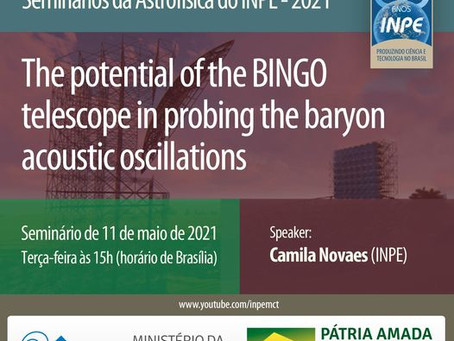 Seminário online The potential of the BINGO telescope in probing the baryon acoustic oscillations