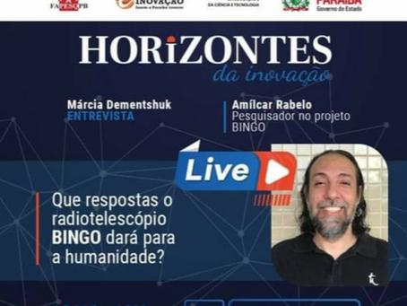 O Radiotelescópio BINGO no canal da FAPESQPB