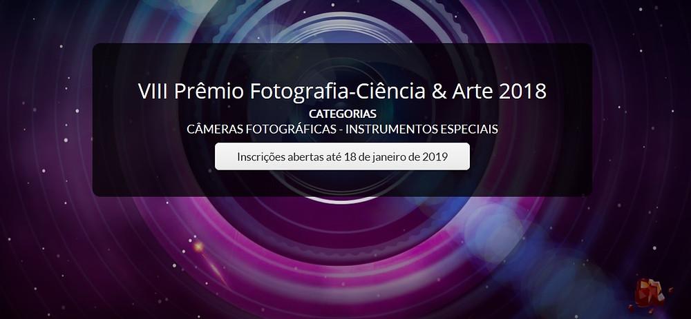 Divulgação do Prêmio Fotografia-Ciência & Arte 2018
