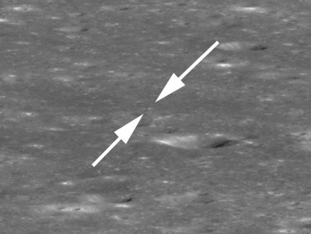 LRO fotografa Chang'e 4 no lado oculto da Lua