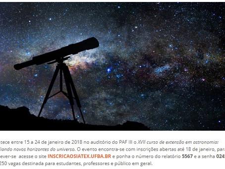 UFBA: XVII Curso de Extensão em Astronomia