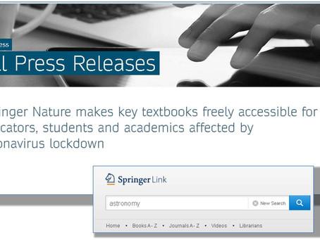 Editora Springer libera acesso a 500 livros até julho